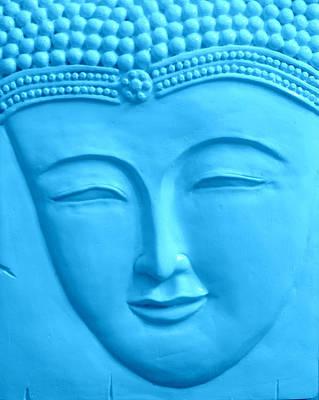 Gautama Photograph - The Blue Buddah by Karyn Robinson