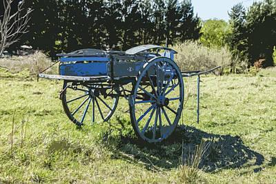 The Blue Cart Art Print by Gary Cowling