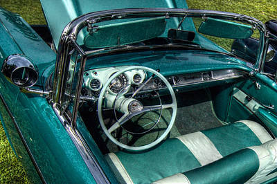 The Blue Chevy Art Print by Linda Unger