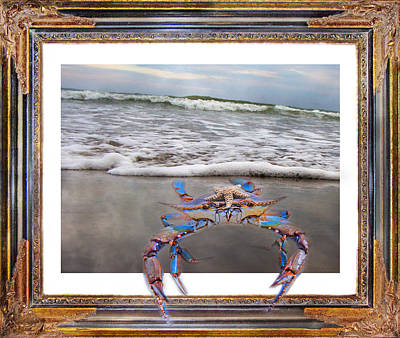 Claw Digital Art - The Blue Crab by Betsy Knapp