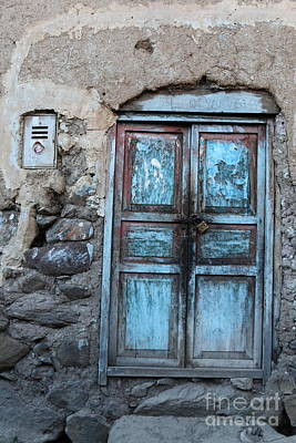 Rustic Realism Photograph - The Blue Door 1 by James Brunker