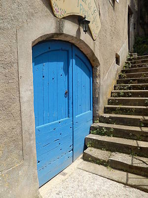 Photograph - The Blue Door by Dany Lison