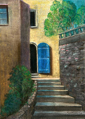 The Blue Door Original by Kathleen Bonadonna