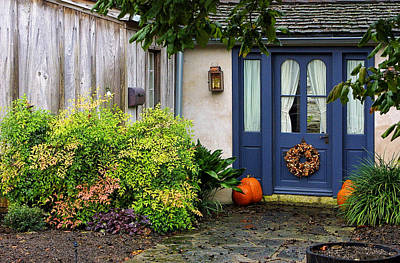 Entrance Door Photograph - The Blue Door by Linda Phelps