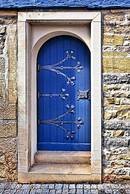 Ornate Photograph - The Blue Door by Marcia Colelli