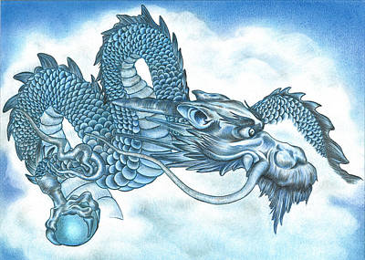 The Blue Dragon Art Print