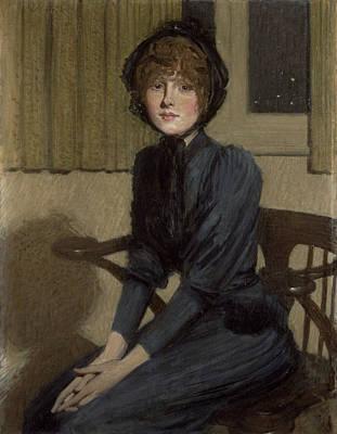 The Blue Dress, 1892 Art Print by Philip Wilson Steer
