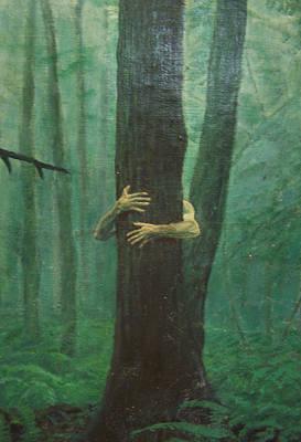 The Blue-green Forest Detail Art Print by Derek Van Derven