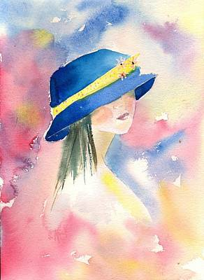 Painting - The Blue Hat by Sharon Mick