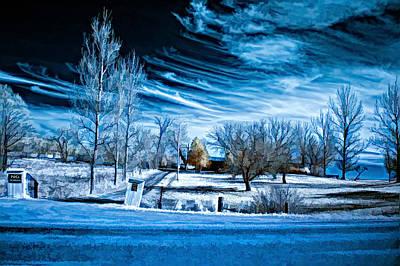 Back Roads Digital Art - The Blue Hour by Steve Harrington