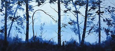 The Blue Lake Art Print by Graham Gercken