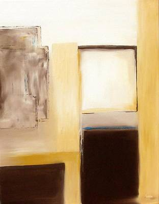 Wall Art - Painting - The Blue Line by Linda Wimberly