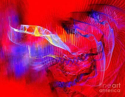Artport Digital Art - The Blue Meanies by Jeanne Liander