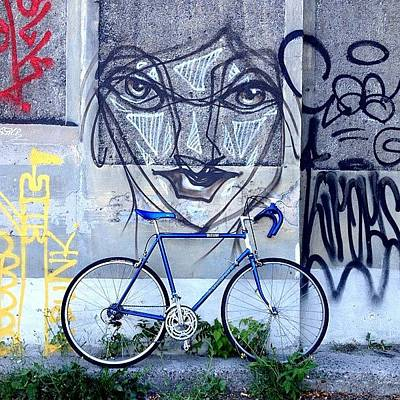 Bicycle Photograph - The Blue Meenie Lookin At You by Kreddible Trout