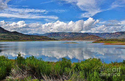 Blue Mesa Reservoir Photograph - The Blue Mesa Western Slope Colorado by Janice Rae Pariza
