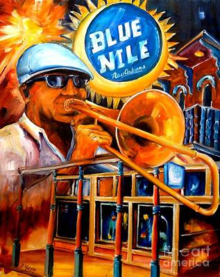 Trombone Painting - The Blue Nile Jazz Club by Diane Millsap