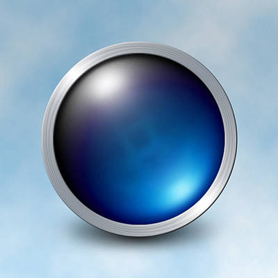 Digital Art - The Blue Orb by Photo Shirts