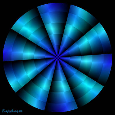 The Blue Propeller. 2013 80/80 Cm.  Art Print