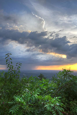 Ocoee Photograph - The Blue Ridge Mountains by Debra and Dave Vanderlaan