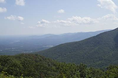 Photograph - The Blue Ridge - View From The Terrapin Mountain Overlook by MM Anderson