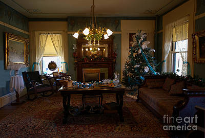 Photograph - The Blue Room At The Bingham-waggoner Estate by Liane Wright
