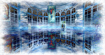 Art Print featuring the digital art The Blue Room by Susanne Baumann