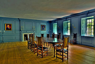 Photograph - The Blue Room Two Wren Building by Jerry Gammon