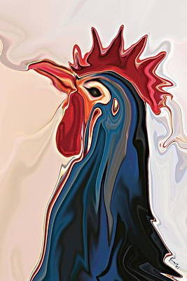 Caravaggio - The Blue  Rooster by Rabi Khan