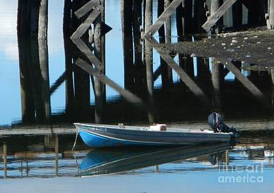 Photograph - The Blue Skiff by Laura  Wong-Rose
