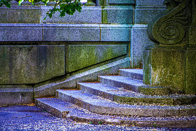 The Blue Stairs Art Print
