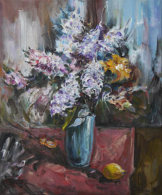 The Blue Vase II Original by Stefano Popovski