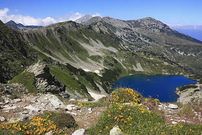 Featured Tapestry Designs - The Blue Vasilashko Lake Pirin National Park Bulgaria  by Ivan Pendjakov