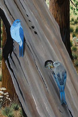 Painting - The Bluebird Nest by Jennifer Lake
