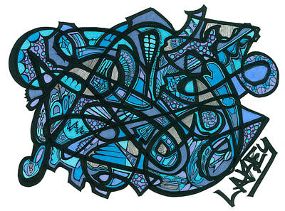 Primitive Drawing - The Blues Between The Lines by Lakey Hinson