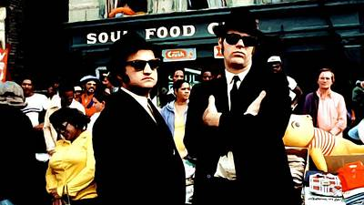 Digital Art - The Blues Brothers by Gabriel T Toro