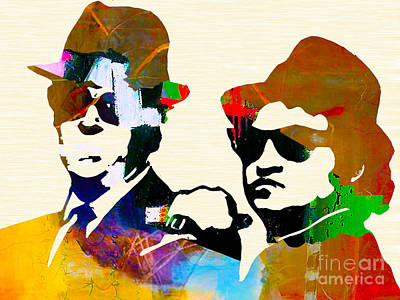 Blues Brothers Mixed Media - The Blues Brothers by Marvin Blaine