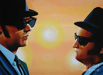 Blues Musician Painting - The Blues Brothers by Paul Meijering