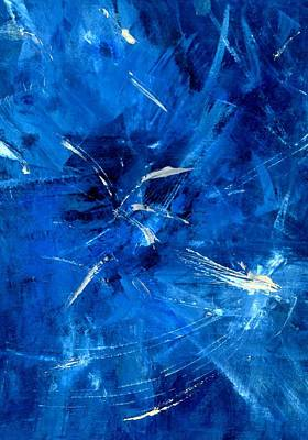 Art Print featuring the painting The Blues by Carolyn Repka