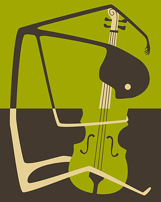 The Blues Cello Art Print by Jazzberry Blue