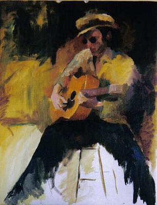 The Blues Man Art Print by John L Campbell