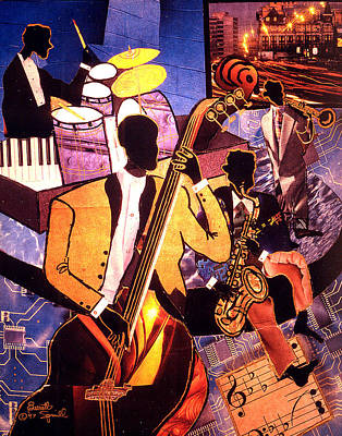 The Blues People Art Print by Everett Spruill