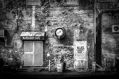 Entrance Door Photograph - The Blues Ship Cafe by Marvin Spates