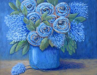 Painting - The Blues by Suzanne Theis