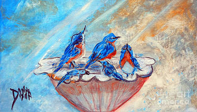 Painting - The Blues by Donna Dixon