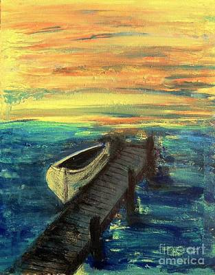 The Boat At The End Of The Dock Original by Linda Waidelich