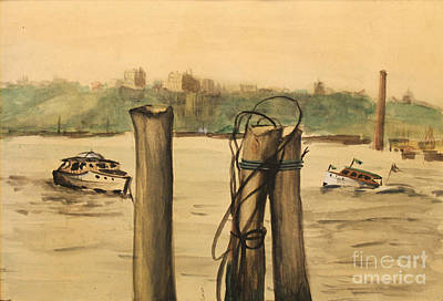 Painting - The Boat Dock 1939 by Art By Tolpo Collection