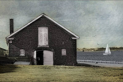 Photograph - The Boat House Newport by Robin-Lee Vieira
