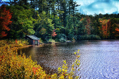 Shed Digital Art - The Boat House by Tricia Marchlik
