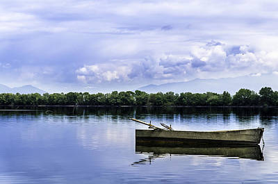 Photograph - The Boat In Kerkini. by Slavica Koceva
