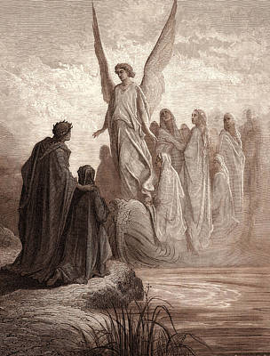 Soul Art Drawing - The Boat Of Souls, By Gustave DorÉ. Gustave Dore by Litz Collection